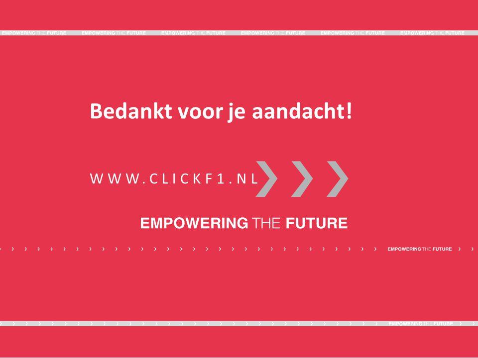 WWW.CLICKF1.NL Bedankt voor je aandacht!