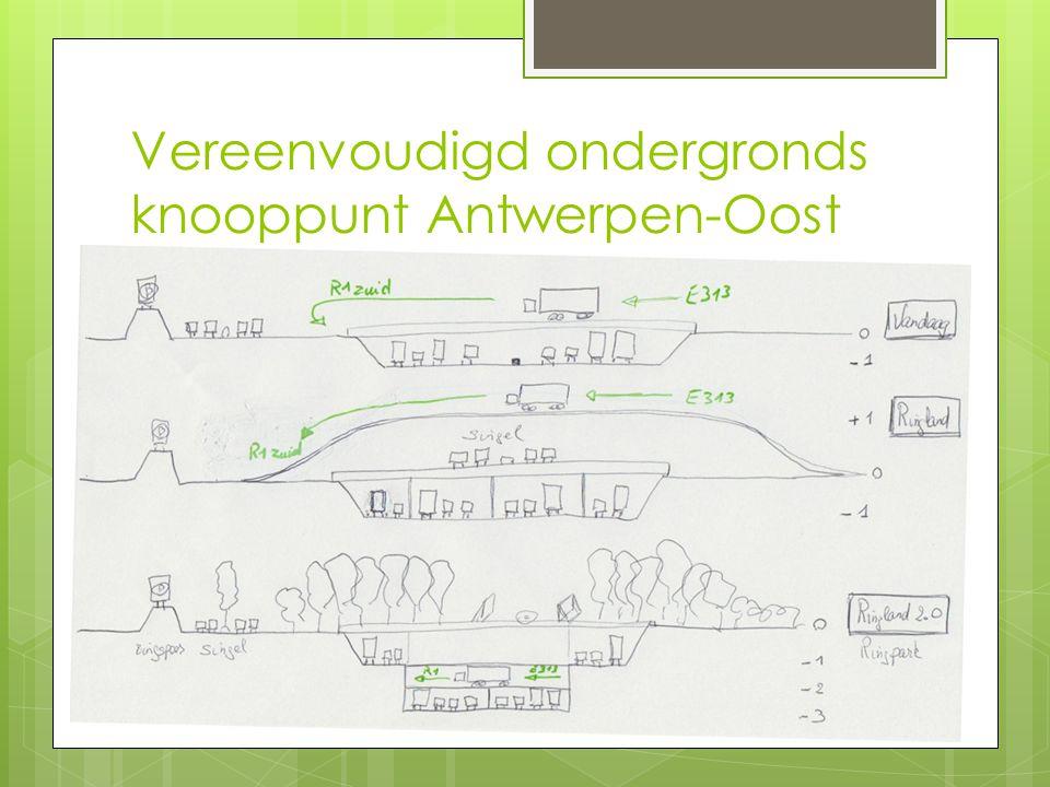 Vereenvoudigd ondergronds knooppunt Antwerpen-Oost