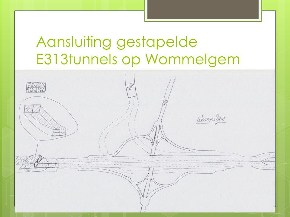 Aansluiting gestapelde E313tunnels op Wommelgem