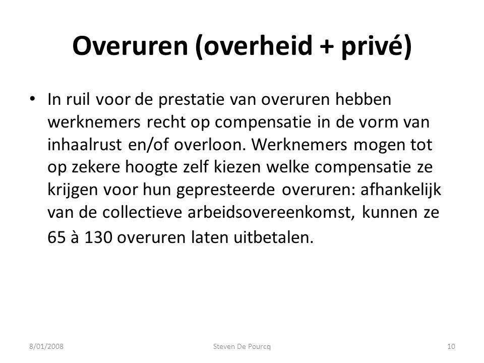 • In ruil voor de prestatie van overuren hebben werknemers recht op compensatie in de vorm van inhaalrust en/of overloon.