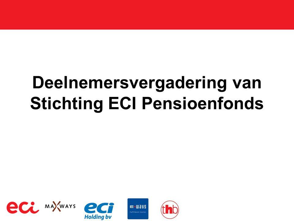 Deelnemersvergadering van Stichting ECI Pensioenfonds