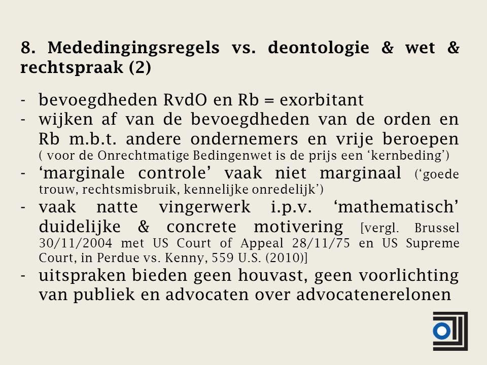 8. Mededingingsregels vs.
