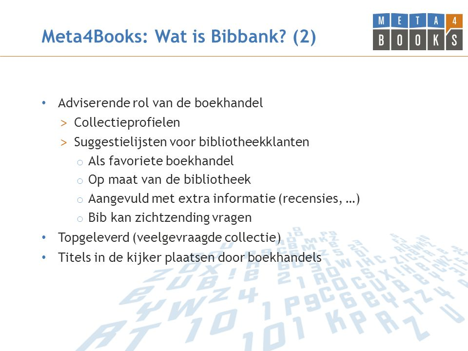Meta4Books: Wat is Bibbank.
