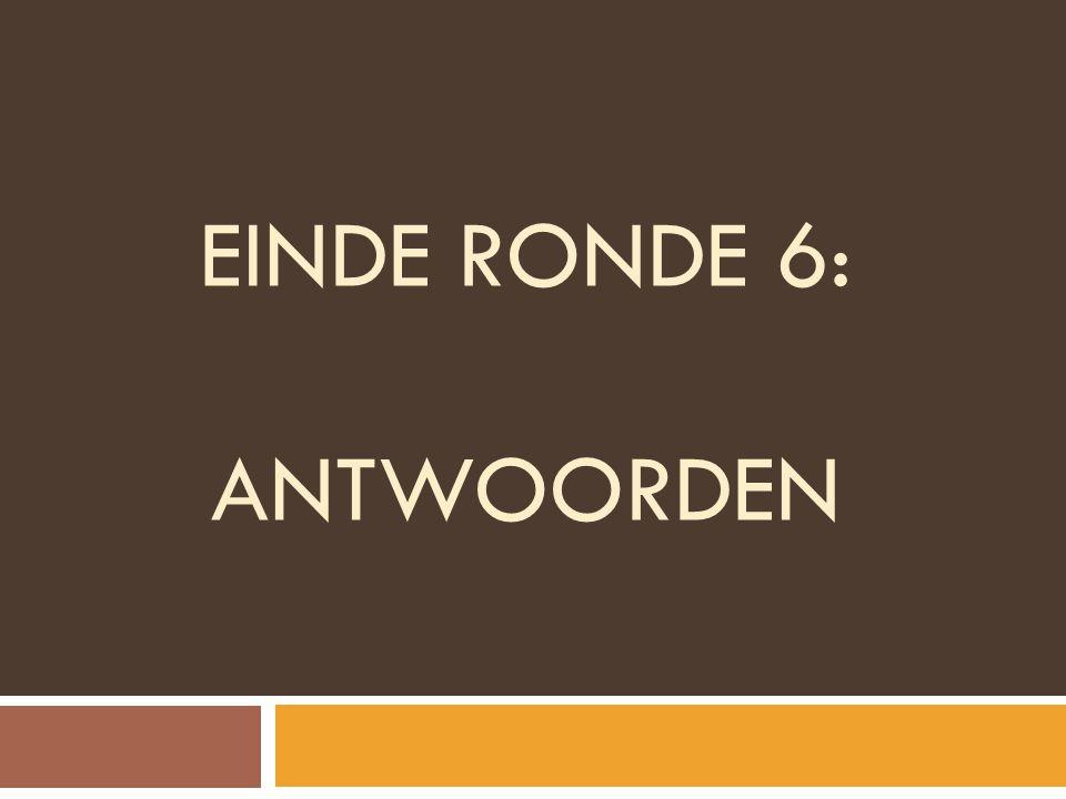 EINDE RONDE 6: ANTWOORDEN