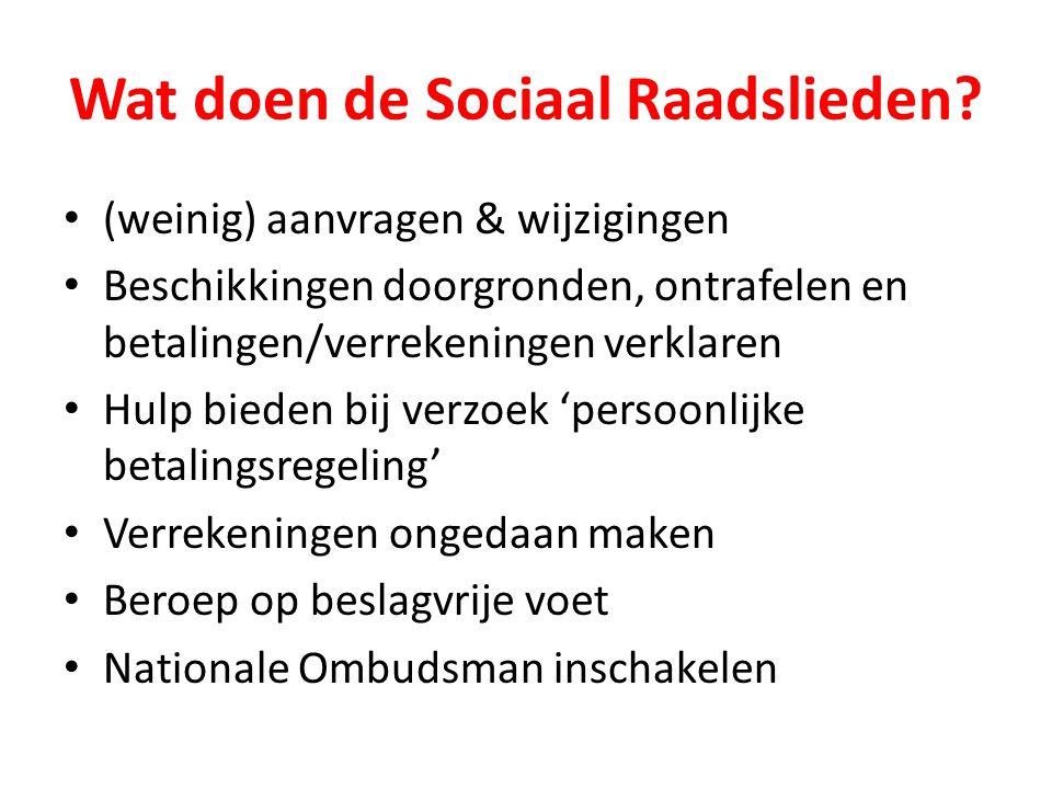 Wat doen de Sociaal Raadslieden.