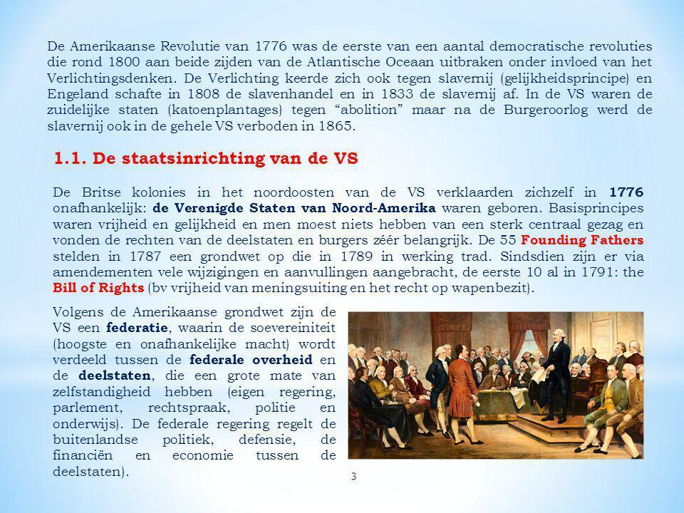 4 De organisatie van de federale overheid is gebaseerd op Montesquieu's trias politica, de scheiding van wetgevende, uitvoerende en rechtsprekende macht.