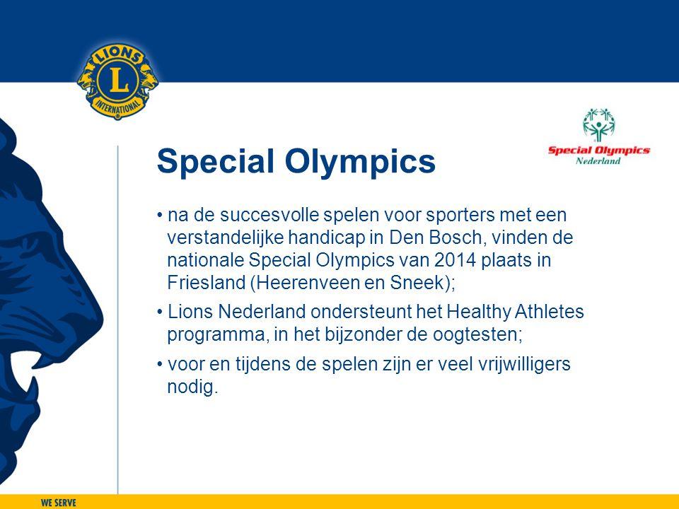 Special Olympics • na de succesvolle spelen voor sporters met een verstandelijke handicap in Den Bosch, vinden de nationale Special Olympics van 2014