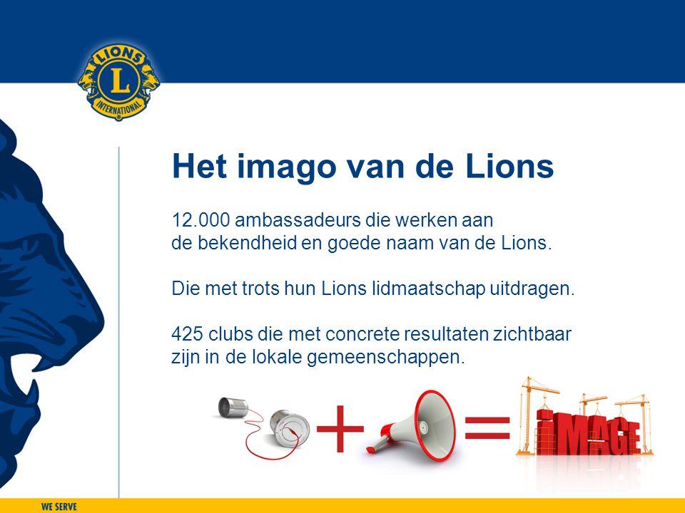 Het imago van de Lions 12.000 ambassadeurs die werken aan de bekendheid en goede naam van de Lions. Die met trots hun Lions lidmaatschap uitdragen. 42
