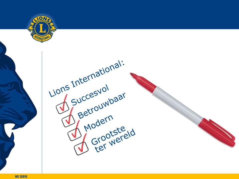 NLdoet • NLdoet is de grootste vrijwilligersactie in Nederland en vindt plaats op 15 en 16 maart 2013; • de uitdaging is om de aantallen van vorig jaar, 7.000 klussen door 300.000 vrijwilligers, te overtreffen; • na een enthousiast begin in 2011 deed vorig jaar ruim 25% van alle Lionsclubs mee aan Nldoet.