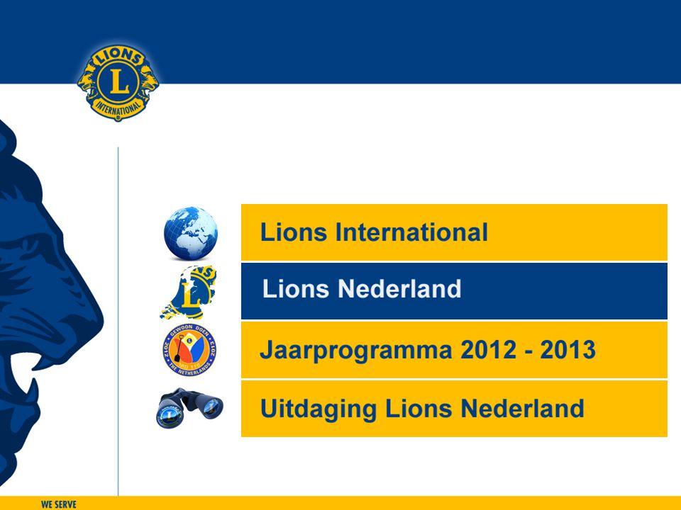 Het imago van de Lions 12.000 ambassadeurs die werken aan de bekendheid en goede naam van de Lions.