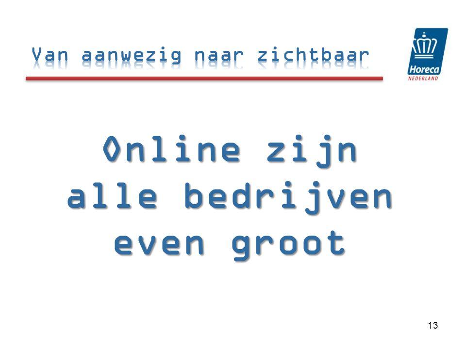 Online zijn alle bedrijven even groot 13