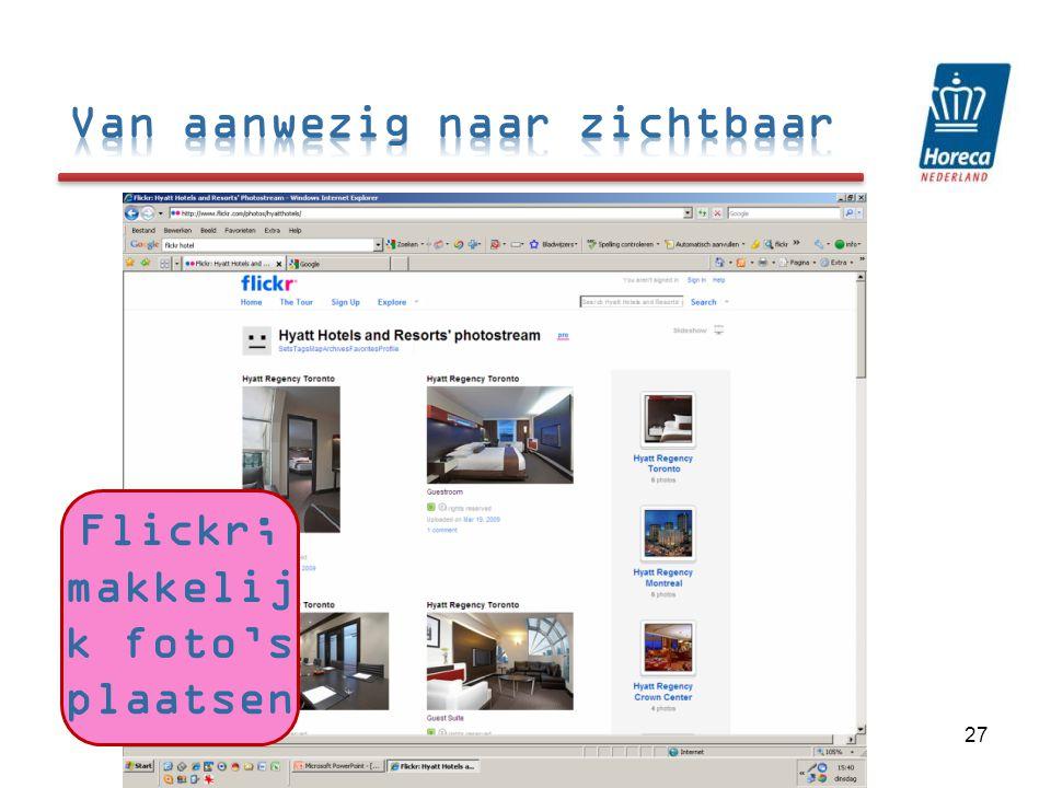 27 Flickr; makkelij k foto's plaatsen