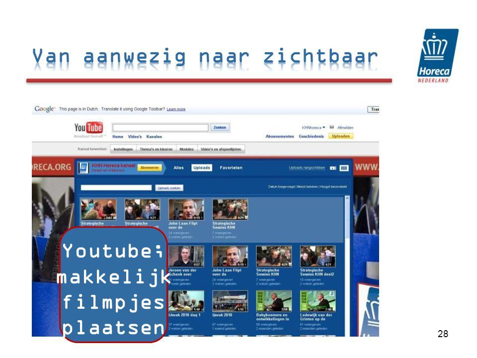 28 Youtube; makkelijk filmpjes plaatsen