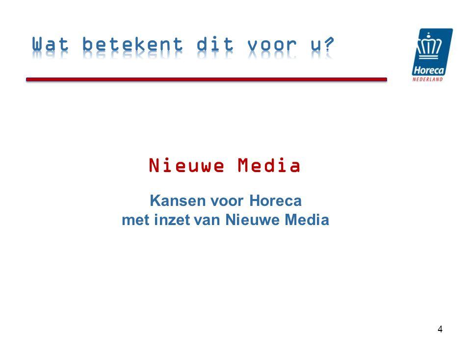Nieuwe Media 4 Kansen voor Horeca met inzet van Nieuwe Media