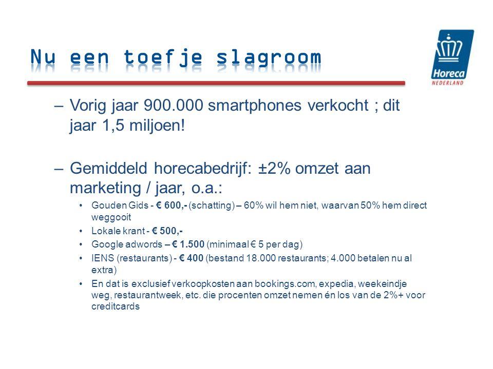 –Vorig jaar 900.000 smartphones verkocht ; dit jaar 1,5 miljoen.