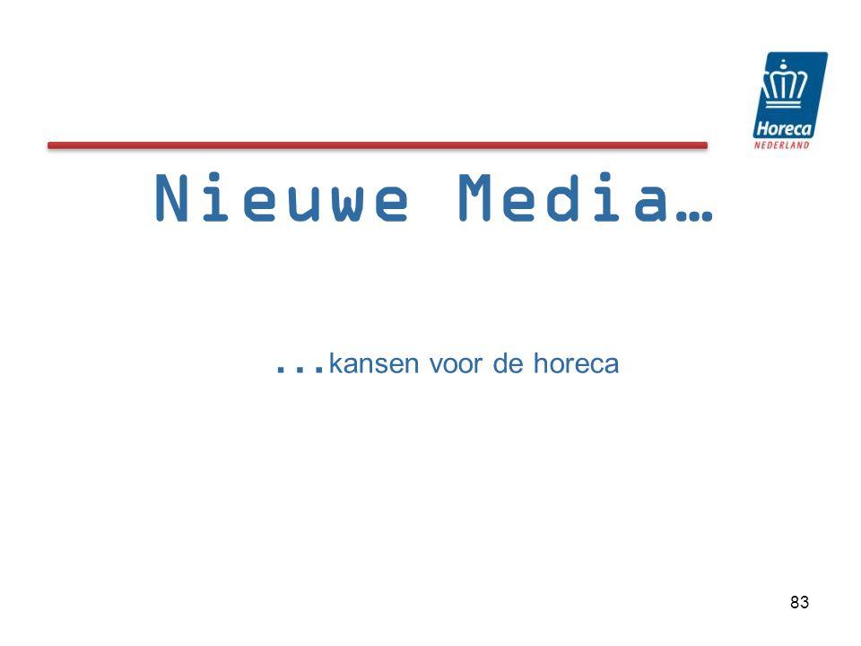 Nieuwe Media… … kansen voor de horeca 83