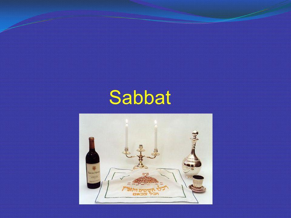 6.De Joodse sabbatsviering - De sabbatsmaaltijd met wijn en brood.