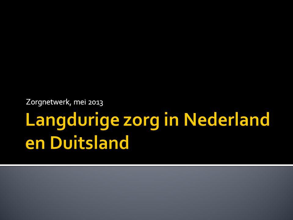  Er is meer mantelzorg in Duitsland, NL regering wil dat ook  Duitsland is veel meer vergrijsd dan Nederland en toch is de zorg goedkoper.