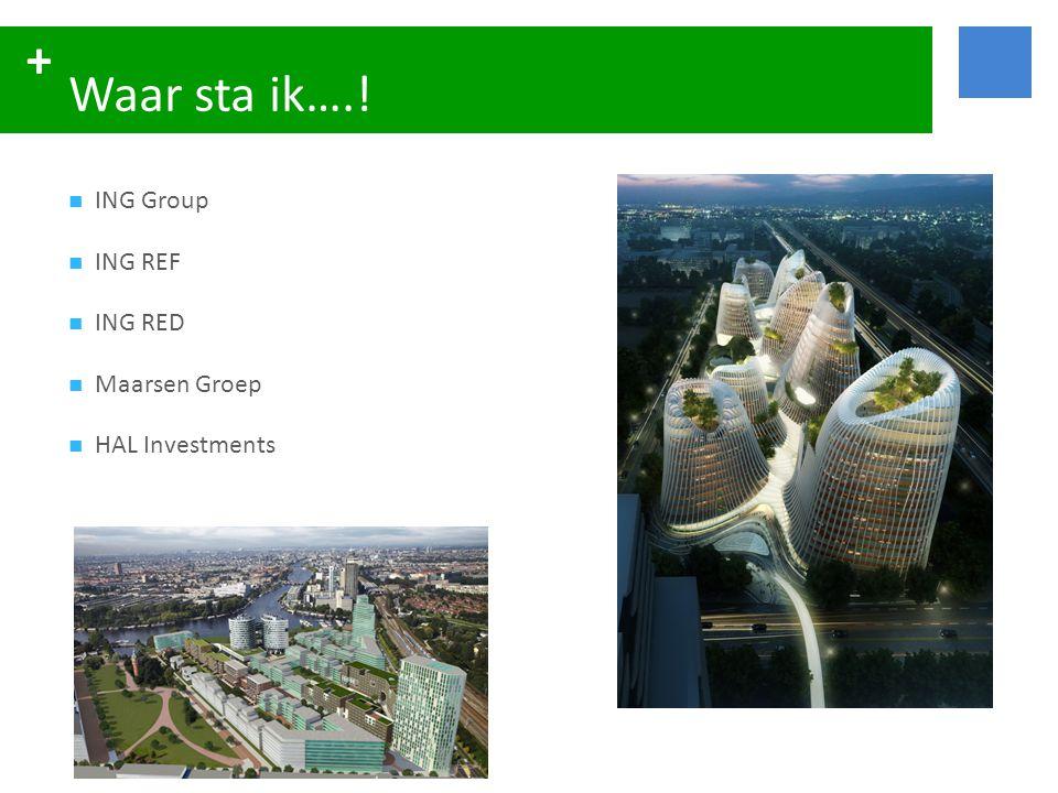 + Waar sta ik….!  ING Group  ING REF  ING RED  Maarsen Groep  HAL Investments