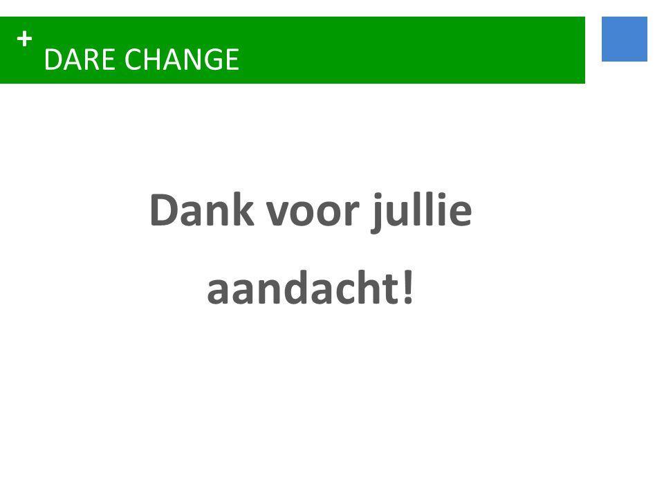 + DARE CHANGE Dank voor jullie aandacht!
