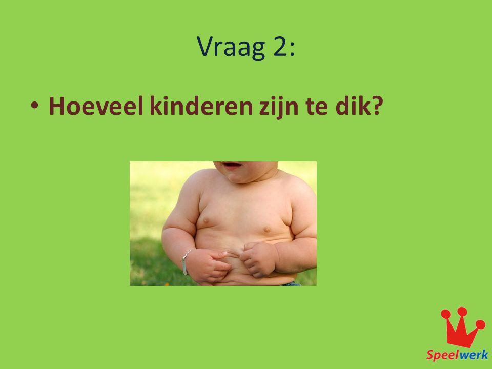 Vraag 2: • Hoeveel kinderen zijn te dik.