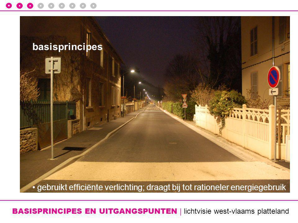 BASISPRINCIPES EN UITGANGSPUNTEN | lichtvisie west-vlaams platteland basisprincipes • gebruikt efficiënte verlichting; draagt bij tot rationeler energiegebruik