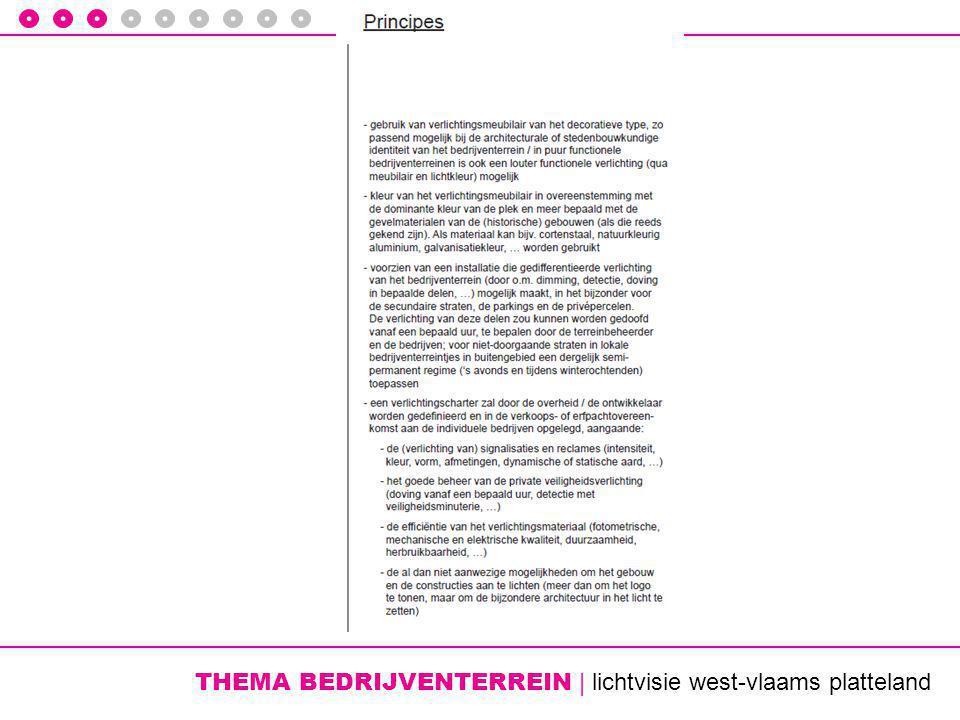 THEMA BEDRIJVENTERREIN | lichtvisie west-vlaams platteland
