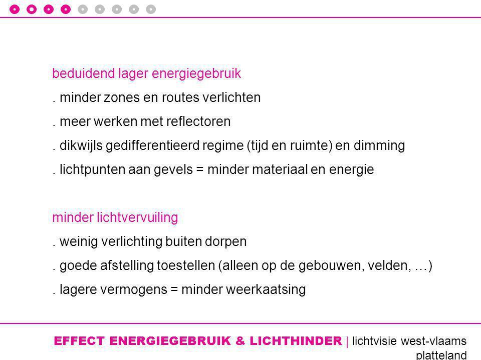 EFFECT ENERGIEGEBRUIK & LICHTHINDER | lichtvisie west-vlaams platteland beduidend lager energiegebruik.