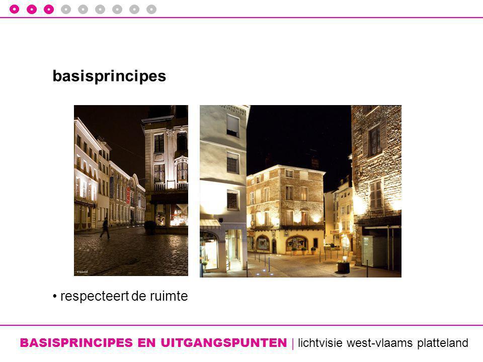 BASISPRINCIPES EN UITGANGSPUNTEN | lichtvisie west-vlaams platteland basisprincipes • respecteert de ruimte