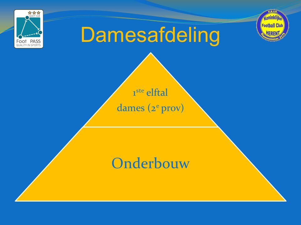 Damesafdeling 1 ste elftal dames (2 e prov) Onderbouw