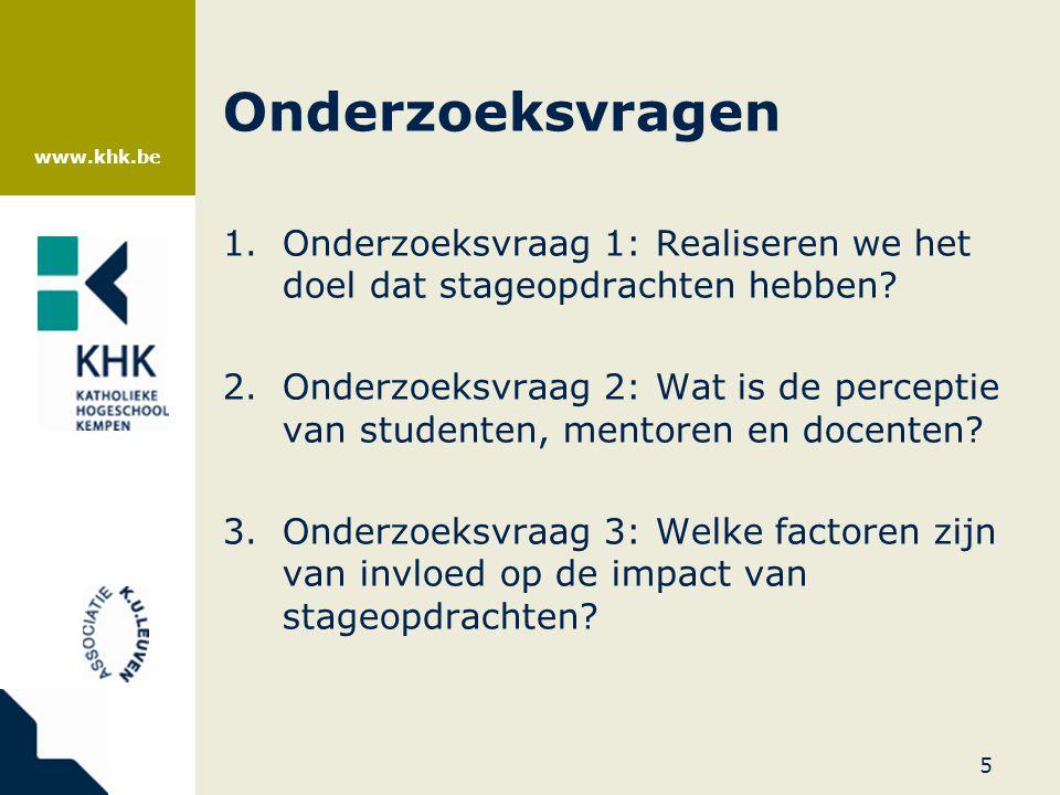 www.khk.be Theoretische situering •Transfer tussen theorie en praktijk.