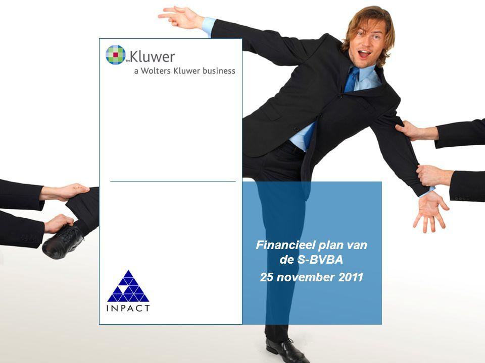 Financieel plan van de S-BVBA 25 november 2011