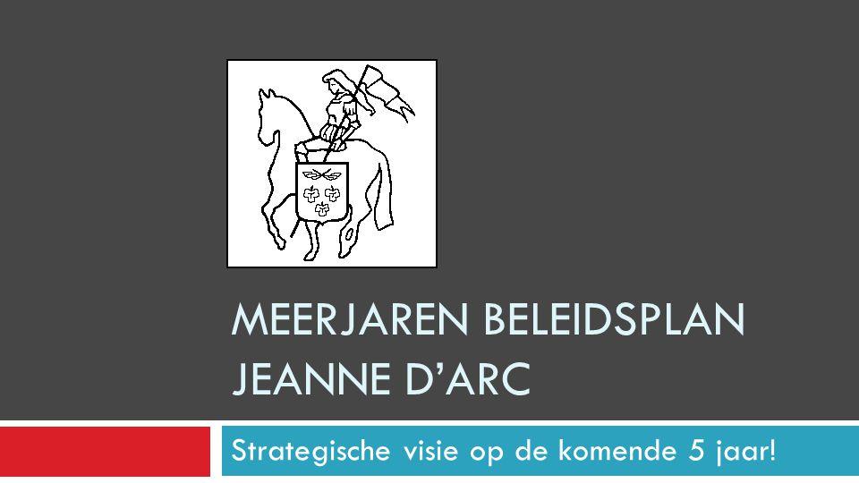 MEERJAREN BELEIDSPLAN JEANNE D'ARC Strategische visie op de komende 5 jaar!