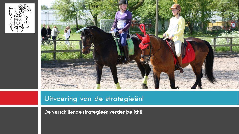 De verschillende strategieën verder belicht! Uitvoering van de strategieën!