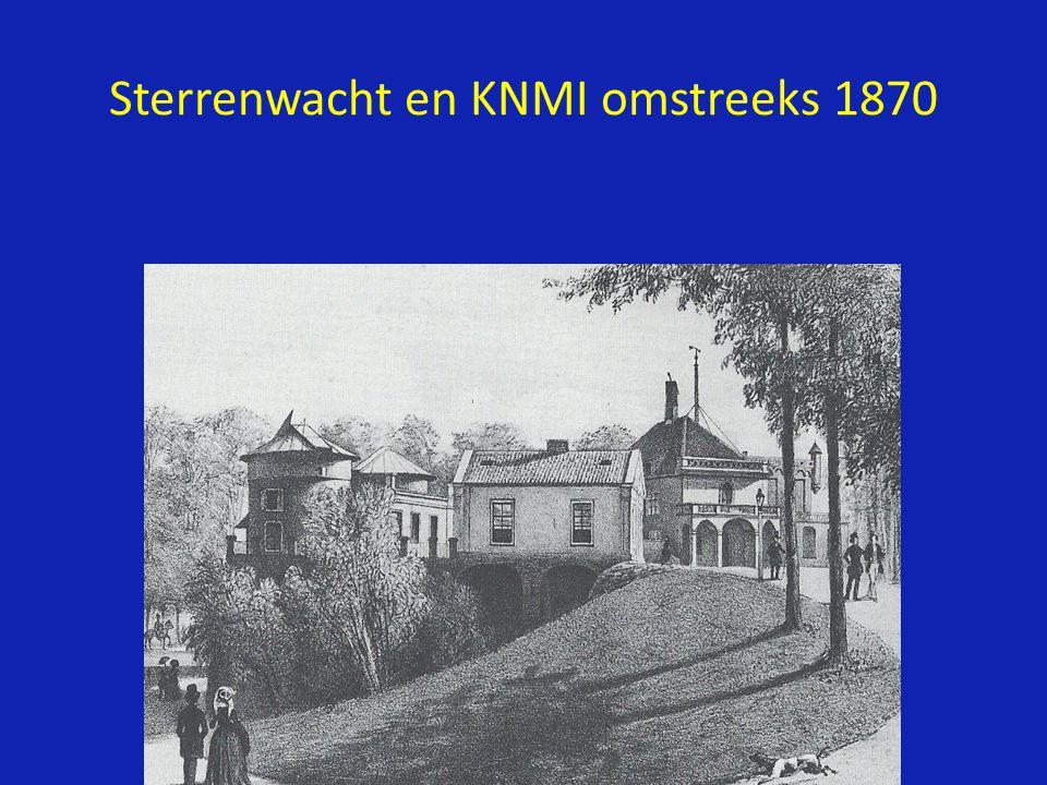 Sterrenwacht en KNMI omstreeks 1870