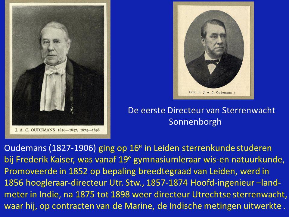 Marcel G.J.Minnaert (1893- 1970), directeur 1937 -1963 Minnaert en Donald Menzel (Harvard University) ontwikkelden rond 1930 onafhankelijk van elkaar de methode waarmee men uit het spectrum (het licht) van Zon en sterren kan bepalen HOEVEEL van elke stof er in deze hemellichamen aanwezig is: de zgn.