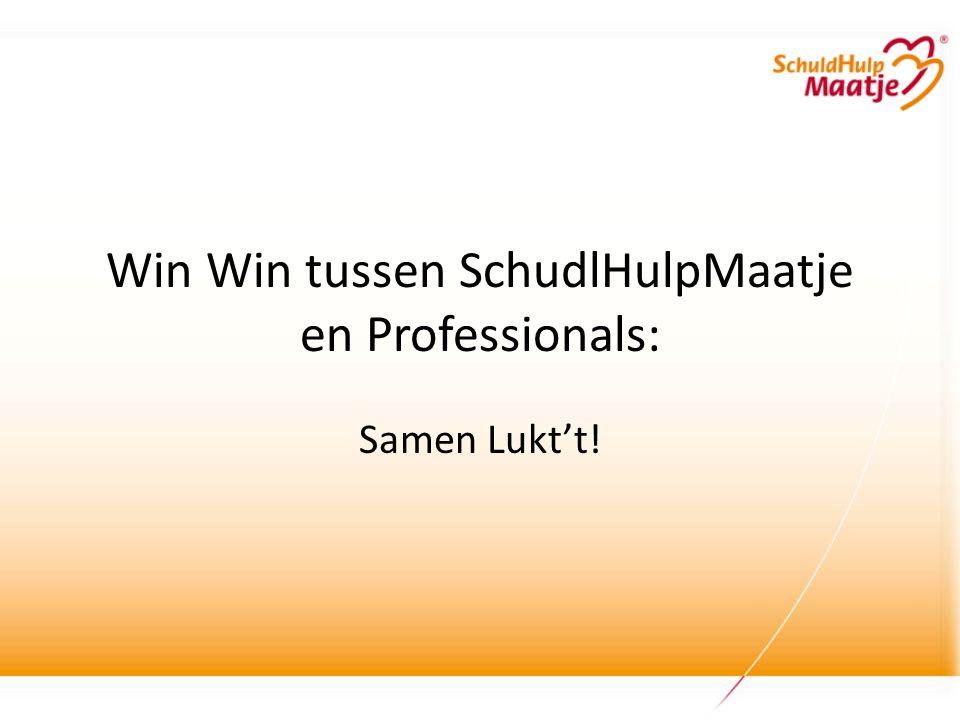 Win Win tussen SchudlHulpMaatje en Professionals: Samen Lukt't!