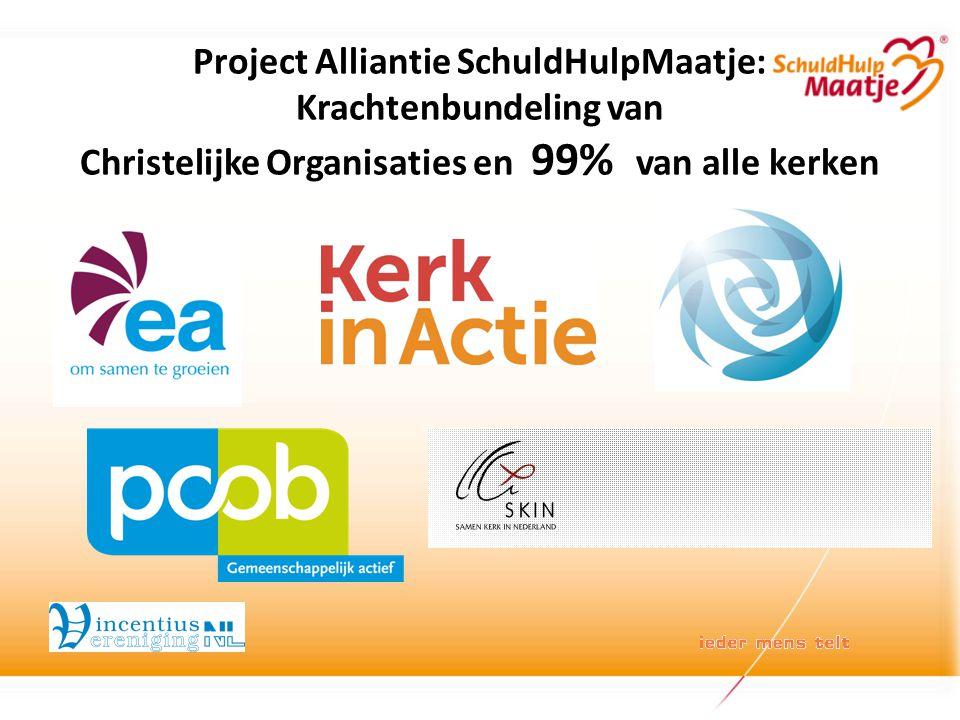 Project Alliantie SchuldHulpMaatje: Krachtenbundeling van Christelijke Organisaties en 99% van alle kerken