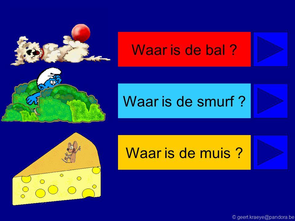 © geert.kraeye@pandora.be Waar is de bal ?