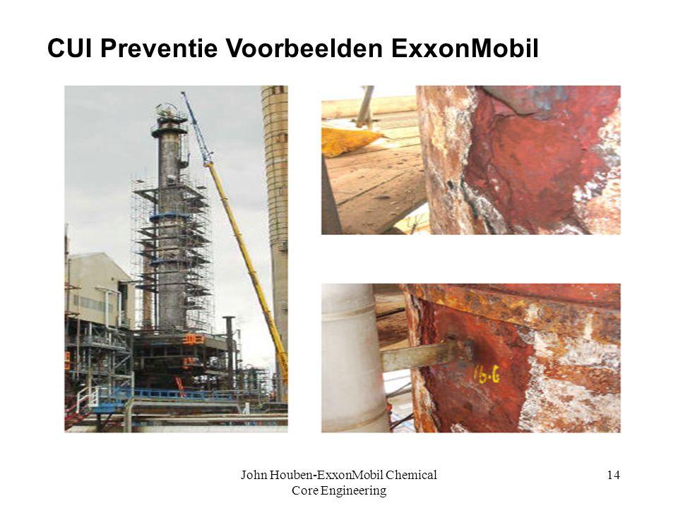 John Houben-ExxonMobil Chemical Core Engineering 14 c CUI Preventie Voorbeelden ExxonMobil