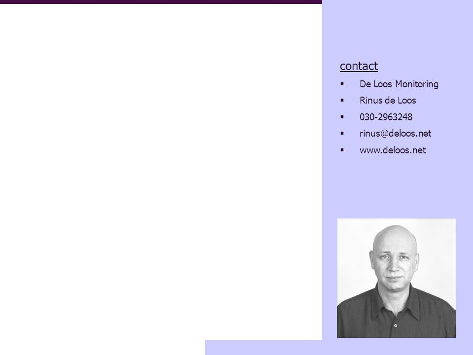 11 criteriumoriëntatie binnen LeerWinst-methodiek contact  De Loos Monitoring  Rinus de Loos  030-2963248  rinus@deloos.net  www.deloos.net