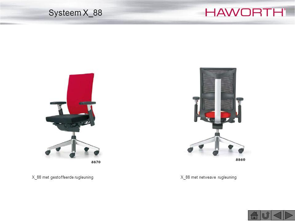 X_88 met gestoffeerde rugleuningX_88 met netweave rugleuning Systeem X_88