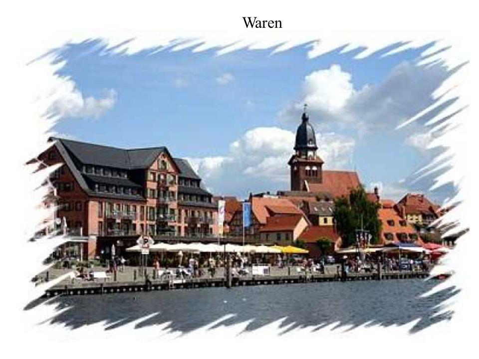 Namiddag: Rond 13 uur meren we aan in het betoverende stadje Waren.