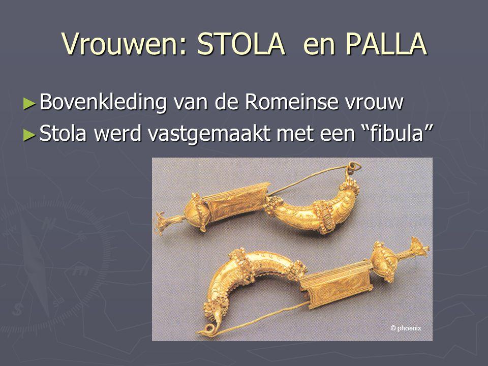 """Vrouwen: STOLA en PALLA ► Bovenkleding van de Romeinse vrouw ► Stola werd vastgemaakt met een """"fibula"""" © phoenix"""