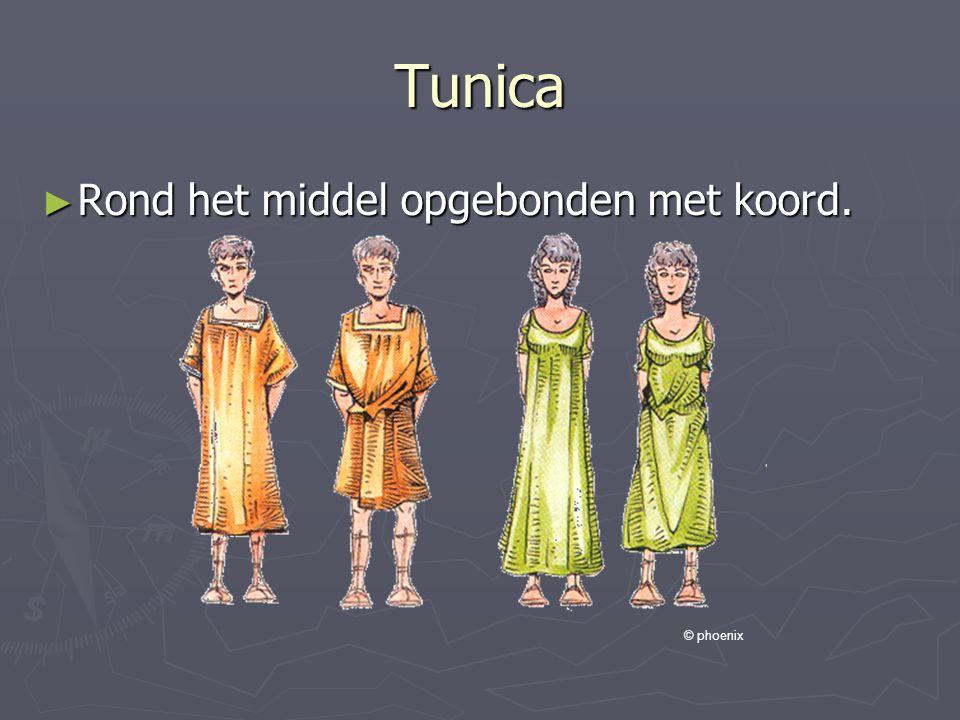 Tunica ► Rond het middel opgebonden met koord. © phoenix