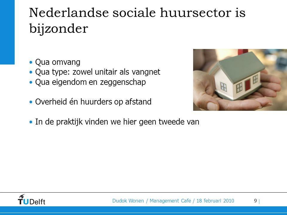 30 Dudok Wonen / Management Cafe / 18 februari 2010 | Aanpassing woningvoorraad •Woningcorporaties moeten met hun aanbod van sociale woningen anticiperend afstemmen op de verwachte omvang van de doelgroep.