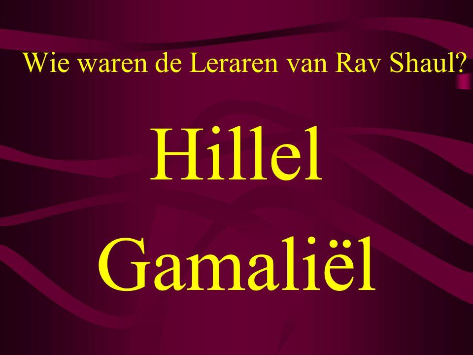 Wie waren de Leraren van Rav Shaul? Hillel Gamaliël
