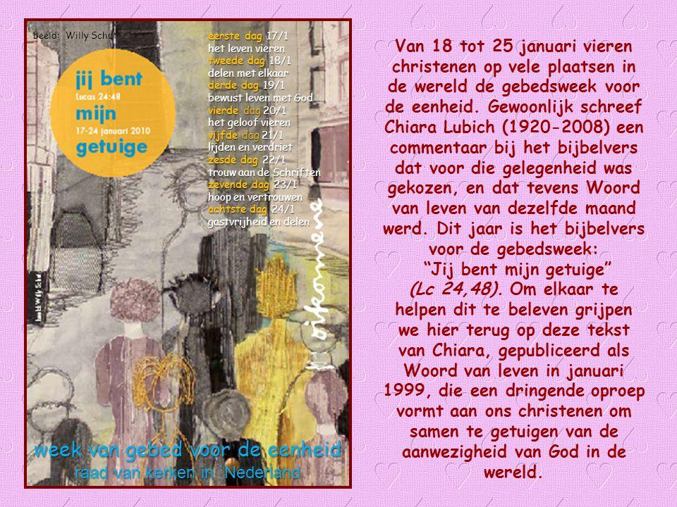 Woord van Leven Januari 2010