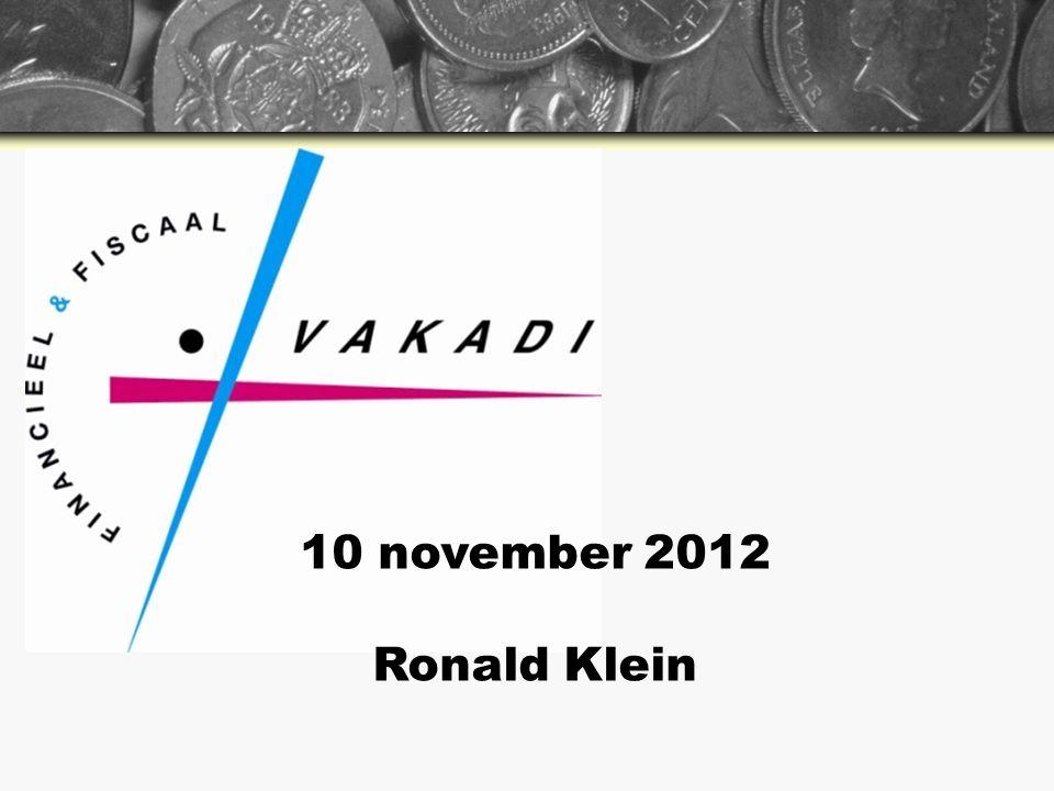 10 november 2012 Ronald Klein