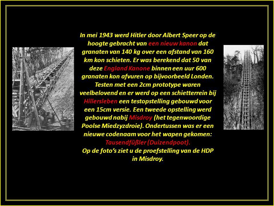 In mei 1943 werd Hitler door Albert Speer op de hoogte gebracht van een nieuw kanon dat granaten van 140 kg over een afstand van 160 km kon schieten.